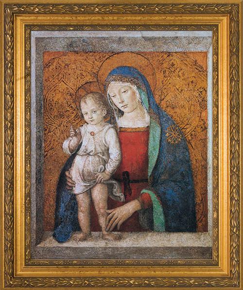 Madonna and Child Gold Framed Art