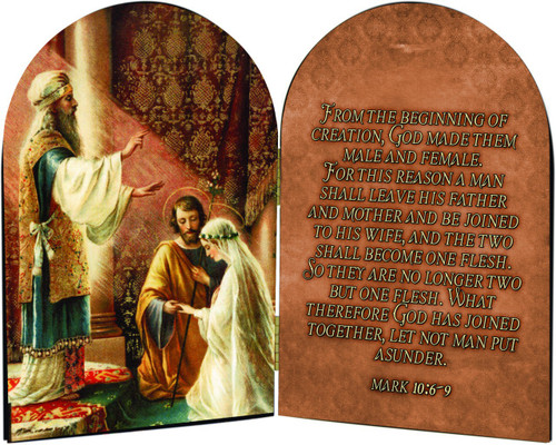 Wedding of Joseph & Mary Arched Diptych