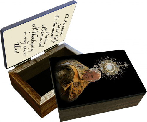 St. John Paul II with Monstrance Keepsake Box