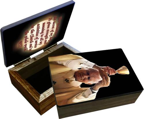 St. John Paul II Raising Chalice Keepsake Box