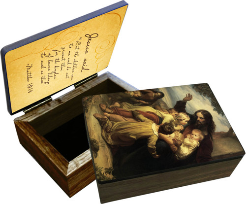 """""""Let the Children Come to Me"""" Keepsake Box"""