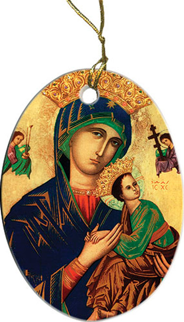 Mother of Perpetual Help Oval Ornament