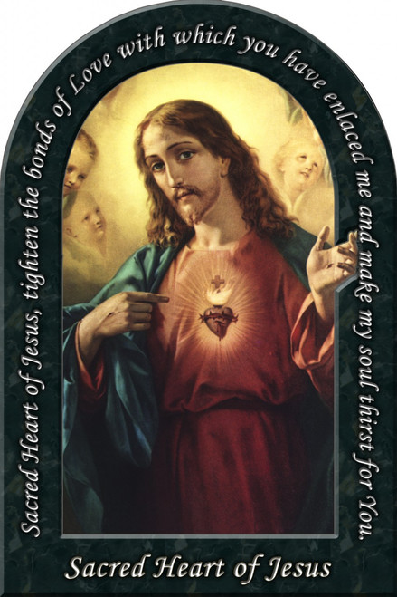 Sacred Heart of Jesus Prayer Arched Magnet
