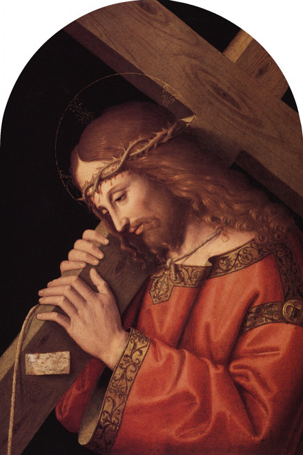 Christ Bearing the Cross Arched Magnet