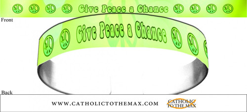 Give Peace A Chance Green Bracelet