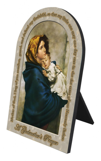 Madonna of the Streets Godmother's Prayer Arched Desk Plaque