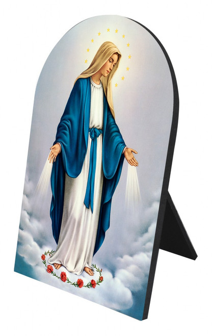 Our Lady of Grace Arched Desk Plaque