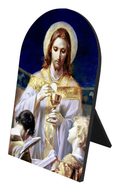 Christ, Bread of Angels Arched Desk Plaque