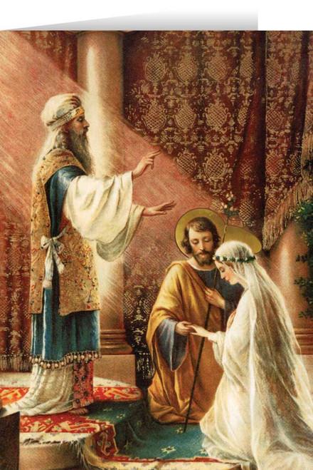Wedding of Joseph & Mary Stationary Card