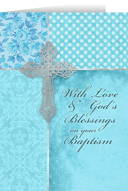 On Your Baptism Aqua Greeting Card