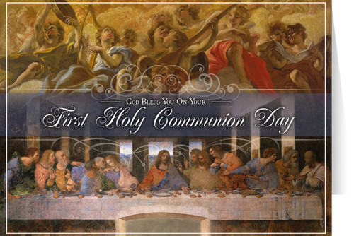Last Supper by Da Vinci First Communion Greeting Card