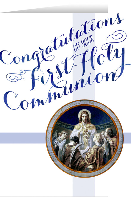 Christ, Bread of Angels First Communion Greeting Card II