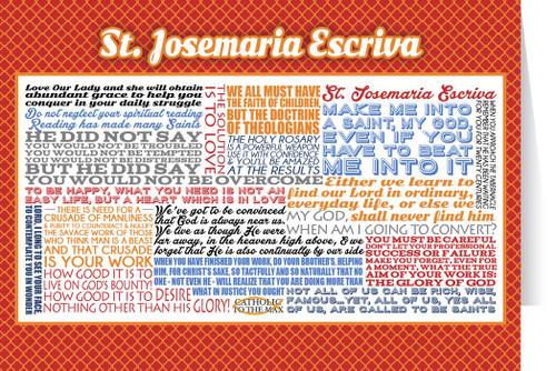 Saint Josemaria Escriva Quote Card