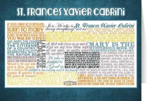 Saint Frances Xavier Cabrini Quote Card