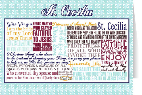 Saint Cecilia Quote Card