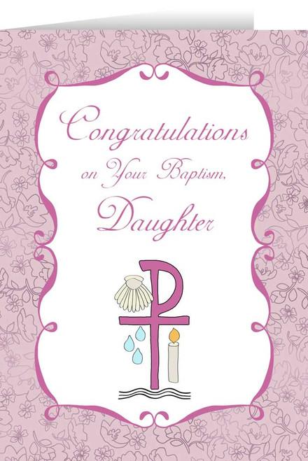 Daughter's Baptism Greeting Card