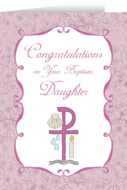 Daughter's Baptism Greeting Card