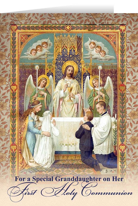 Granddaughter's First Communion Greeting Card
