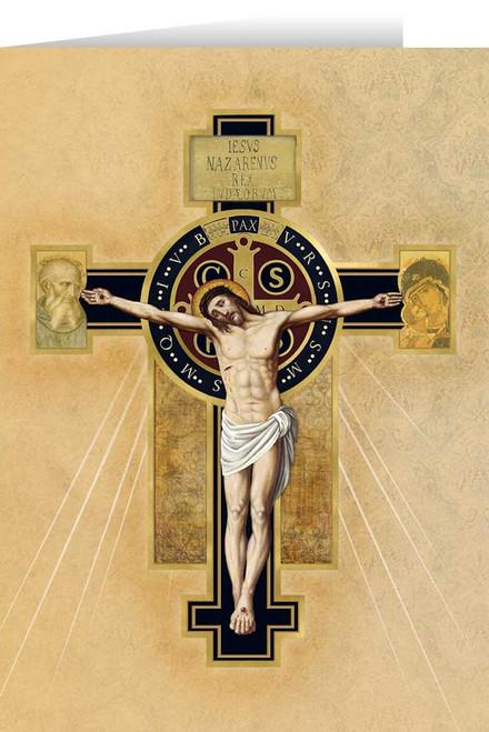 Benedictine Cross Greeting Card