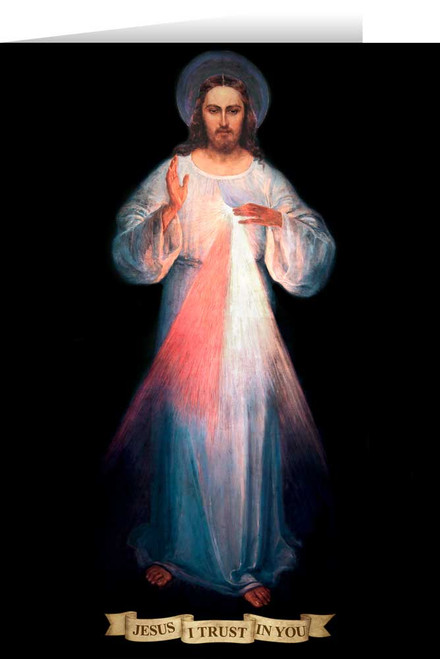 Divine Mercy Vilnius Original with Prayer Greeting Card