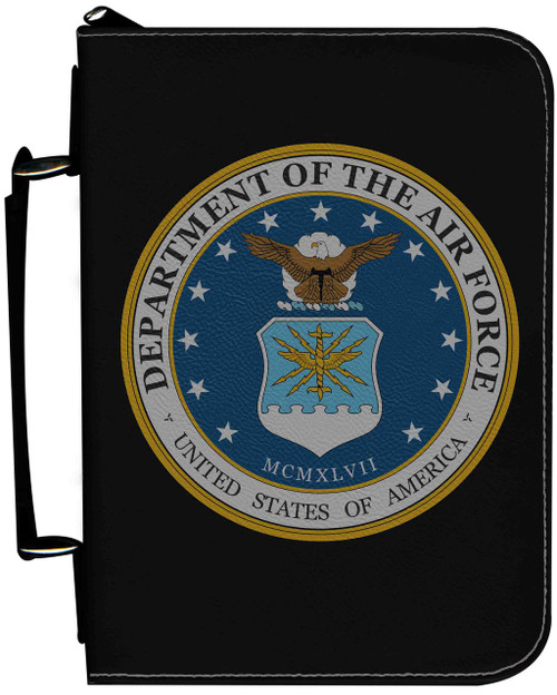 Personalized Bible Cover with Air Force Graphic - Black