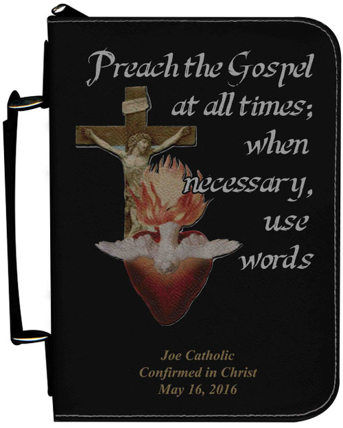 Personalized Bible Cover with Missionary Graphic - Black