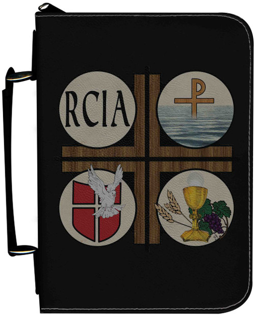 Personalized Bible Cover with RCIA Graphic - Black