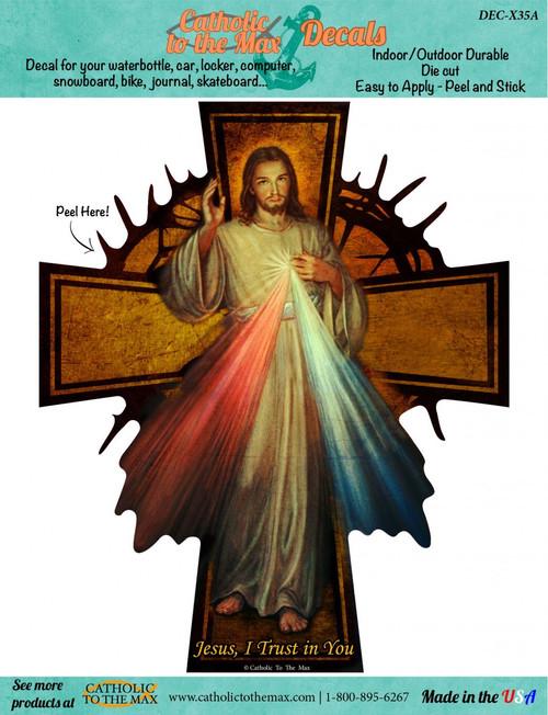 Divine Mercy Cross Decal