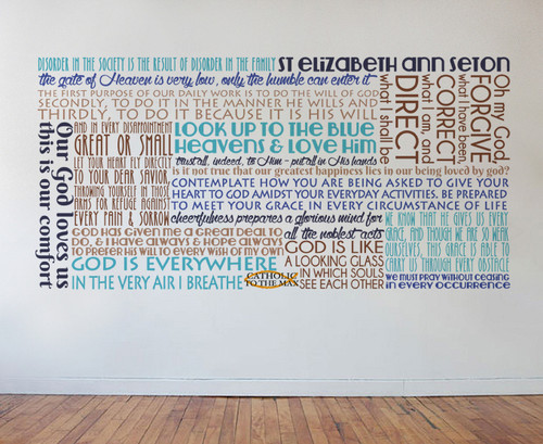 Saint Elizabeth Ann Seton Quote Wall Decal