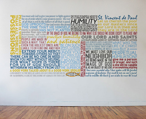 Saint Vincent de Paul Quote Wall Decal