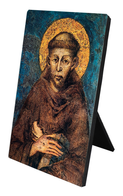 St. Francis by Cimabue Vertical Desk Plaque