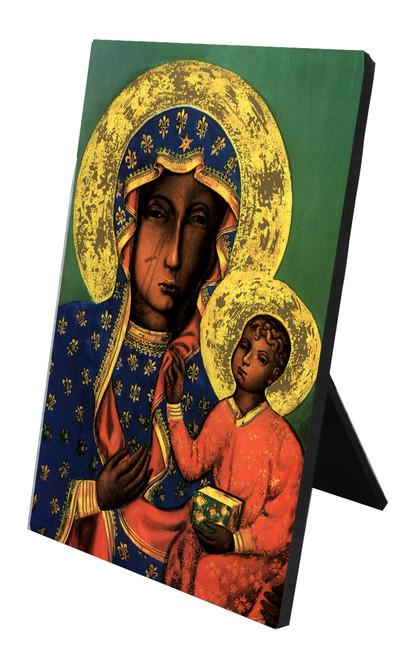 Our Lady of Czestochowa Vertical Desk Plaque