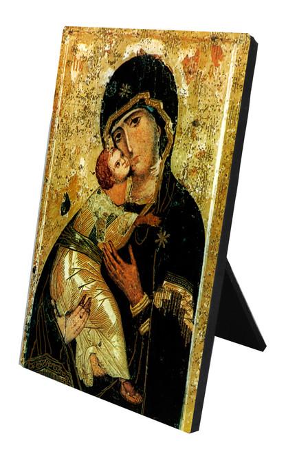 Our Lady of Vladimir Vertical Desk Plaque