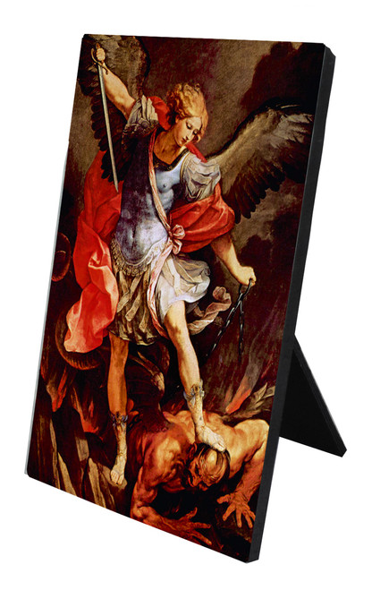 St. Michael the Archangel Vertical Desk Plaque