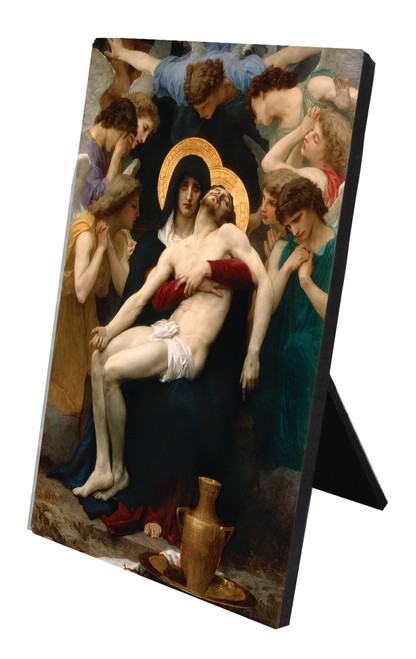 La Pieta Vertical Desk Plaque