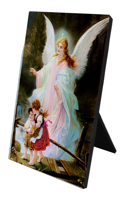 Angel on the Perilous Bridge Vertical Desk Plaque