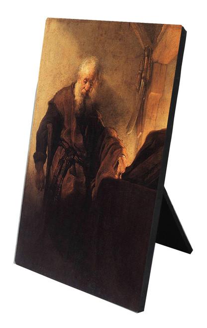 St. Paul at His Desk Vertical Desk Plaque