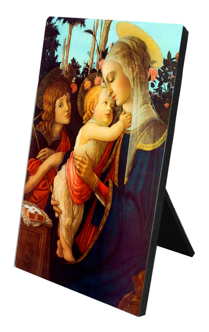 Virgin and her Child Vertical Desk Plaque