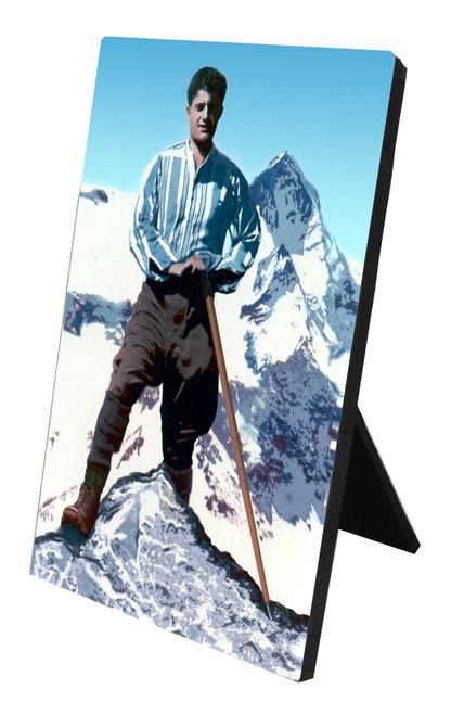 Bl. Pier Giorgio Frassati Vertical Desk Plaque