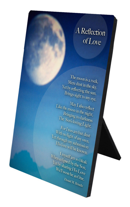A Reflection of Love Vertical Desk Plaque