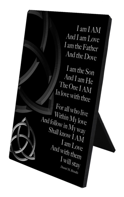 Trinity Poem Vertical Desk Plaque