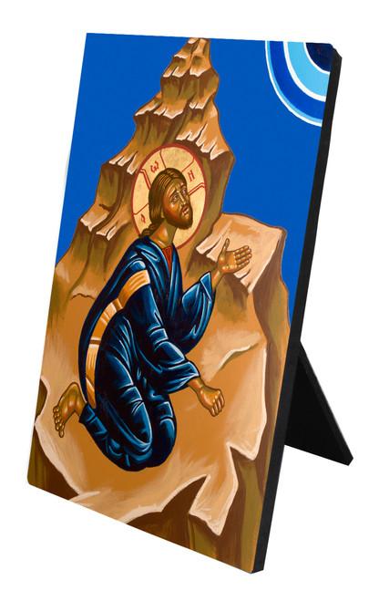 Christ in the Desert Vertical Desk Plaque