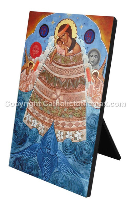 Our Lady of Honolulu Icon Desk Plaque
