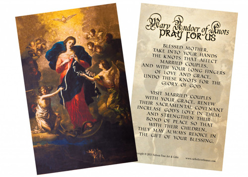 Mary Undoer of Knots Marriage Prayer Holy Card