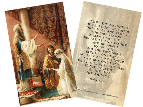 Wedding of Joseph & Mary Holy Card