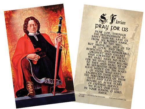 The Fireman's Prayer Holy Card