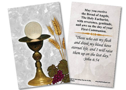 Chalice First Communion Holy Card