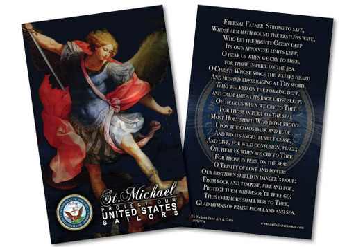St. Michael Navy Prayer Card