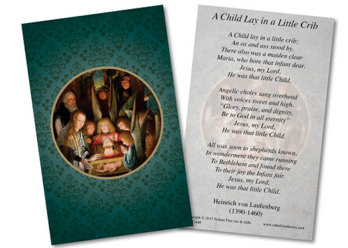 Adoration of the Shepherds (Special Needs) Holy Card
