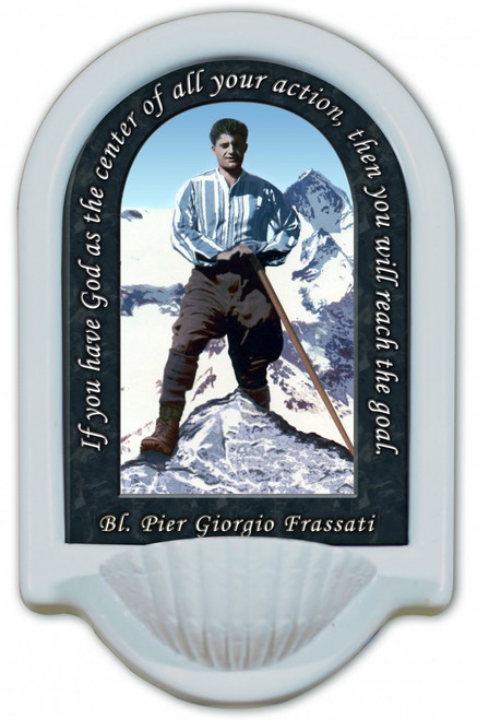 Bl. Pier Giorgio Prayer Holy Water Font